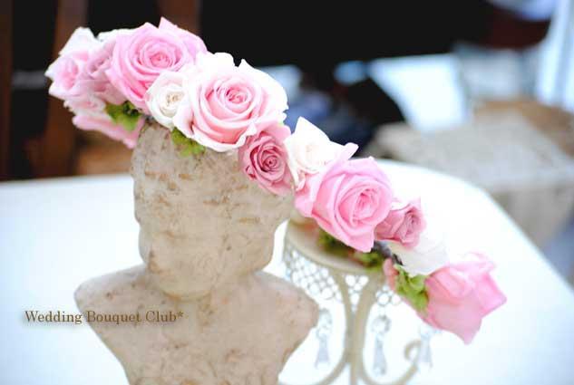 プリザーブドフラワーの花冠