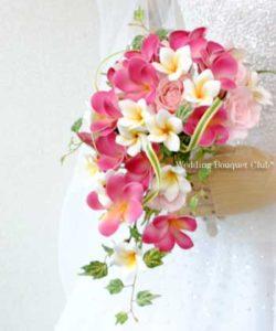 造花のブルメリアオーバルブーケ