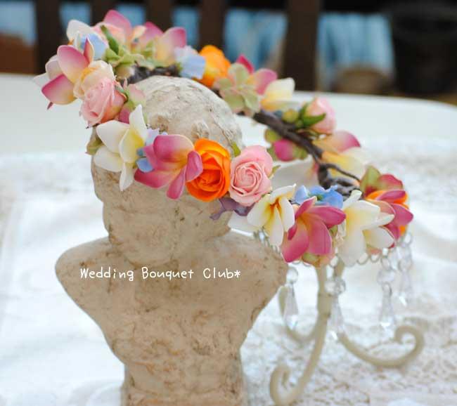 お洒落花嫁に!オーダーメイドの花冠を。