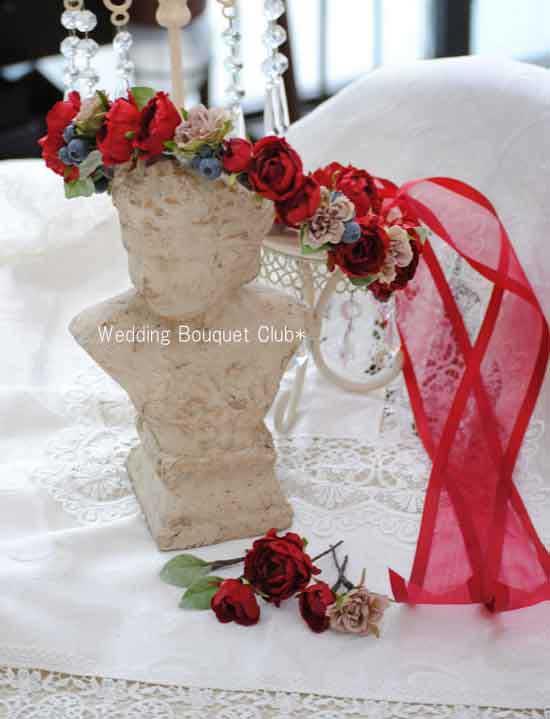 大人可愛い♡赤い花冠
