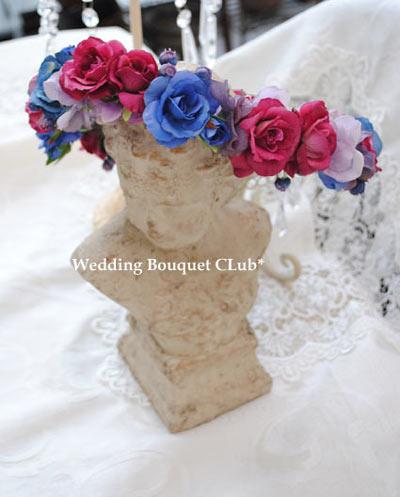 オシャレ花嫁に!花冠はブルーをご提案