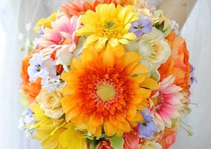 花嫁の為のガーベラブーケ*造花編:色選び参考書