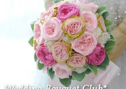フリル咲きのバラのプリザーブドフラワーブーケ