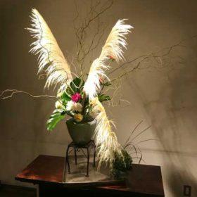 パンパグラスの生け花