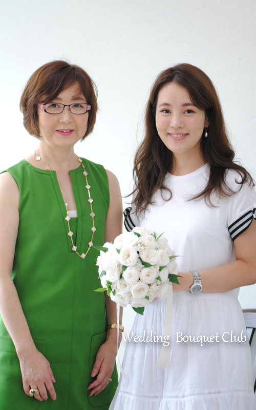 母と娘のプリザーブドフラワーブーケ