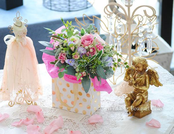 ウェルカムスペースを飾る花束