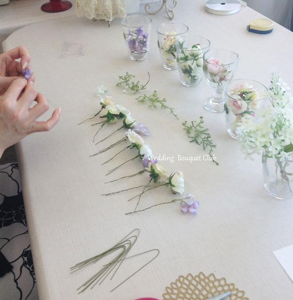 花冠のワイヤリング