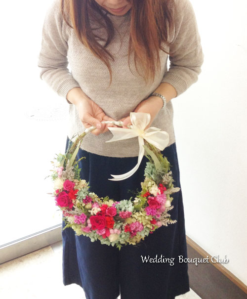 リースブーケの花嫁様