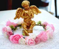 ピンクの花冠