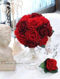 赤バラの結婚式ブーケ