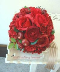 赤バラのブーケ