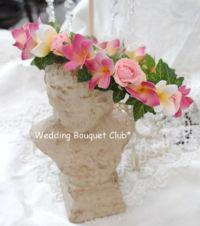 ピンクプルメリアの花冠
